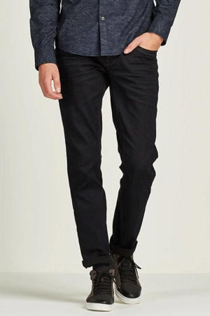 tapered fit jeans Skymaster Coated zwart