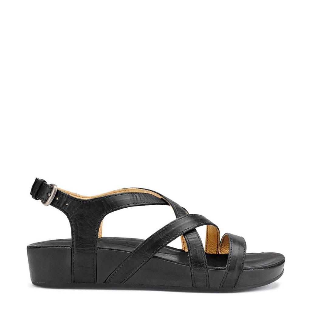 Olukai   Nana leren sandalen, Zwart
