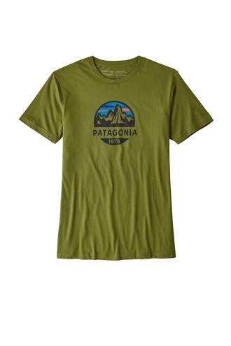 outdoor T-shirt Fitz Roy olijfgroen