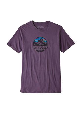 outdoor T-shirt Fitz Roy paars
