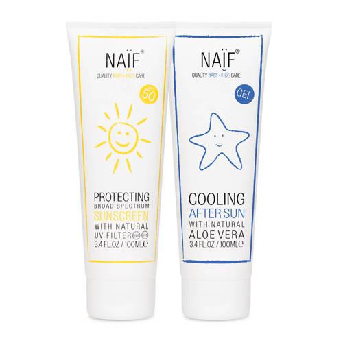 NAÏF Baby & Kids zonnebrand SPF50 en aftersun kopen