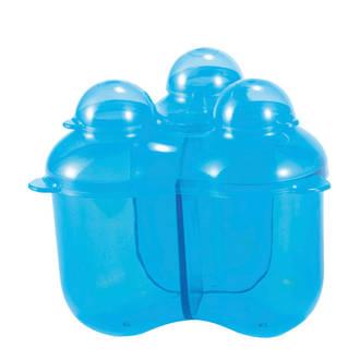 drievaks melkpoederdoosje blauw