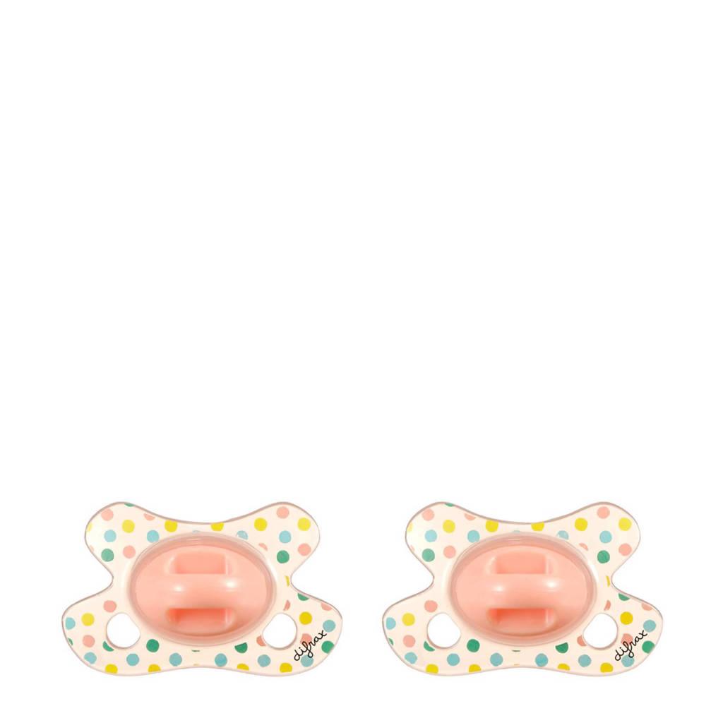 Difrax Dental fopspeen newborn (2 stuks) Sparkle