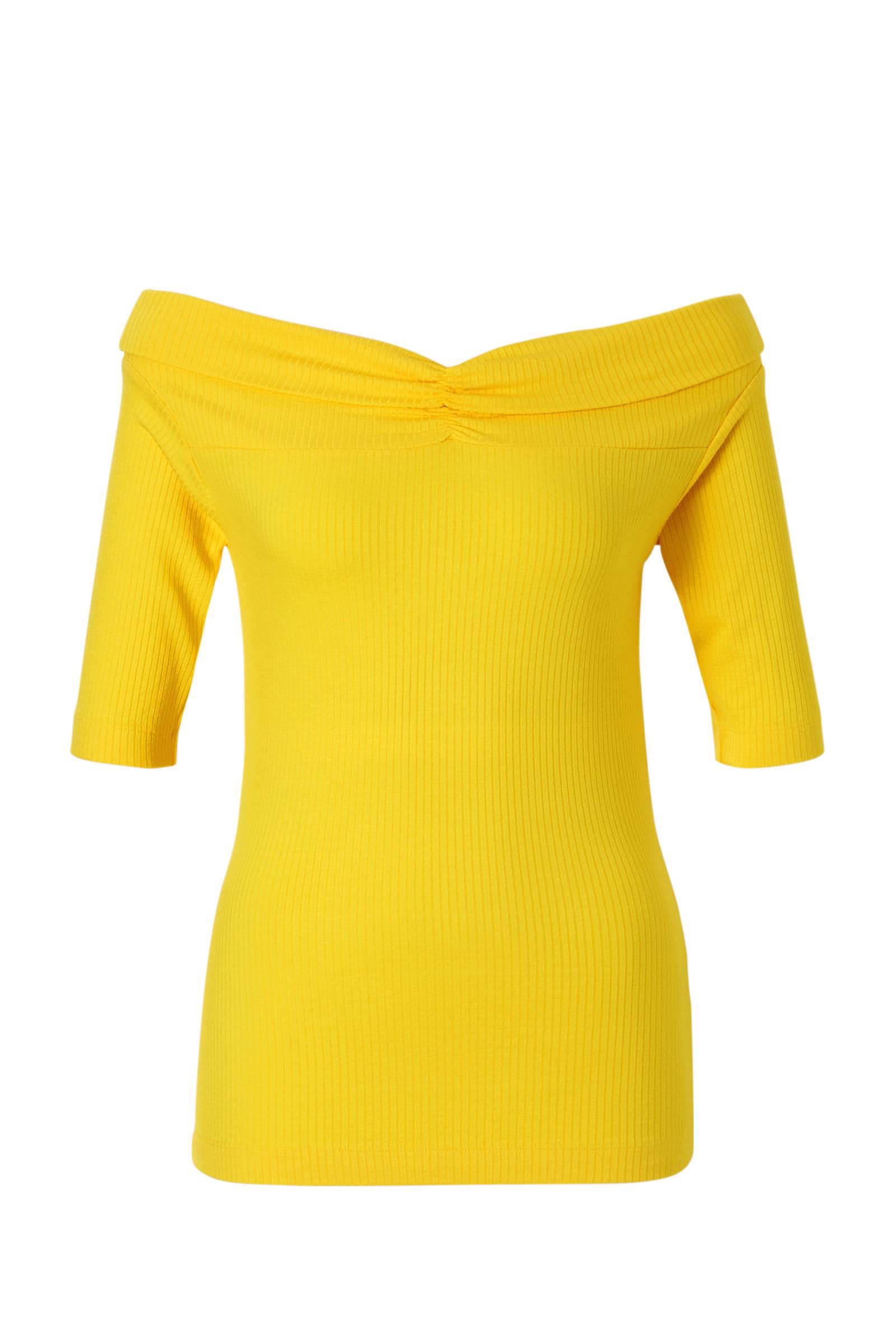 whkmp's own off-shoulder rib top (dames)