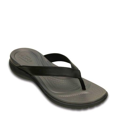 Crocs Flip Flops Dames Black-Graphite Capri V