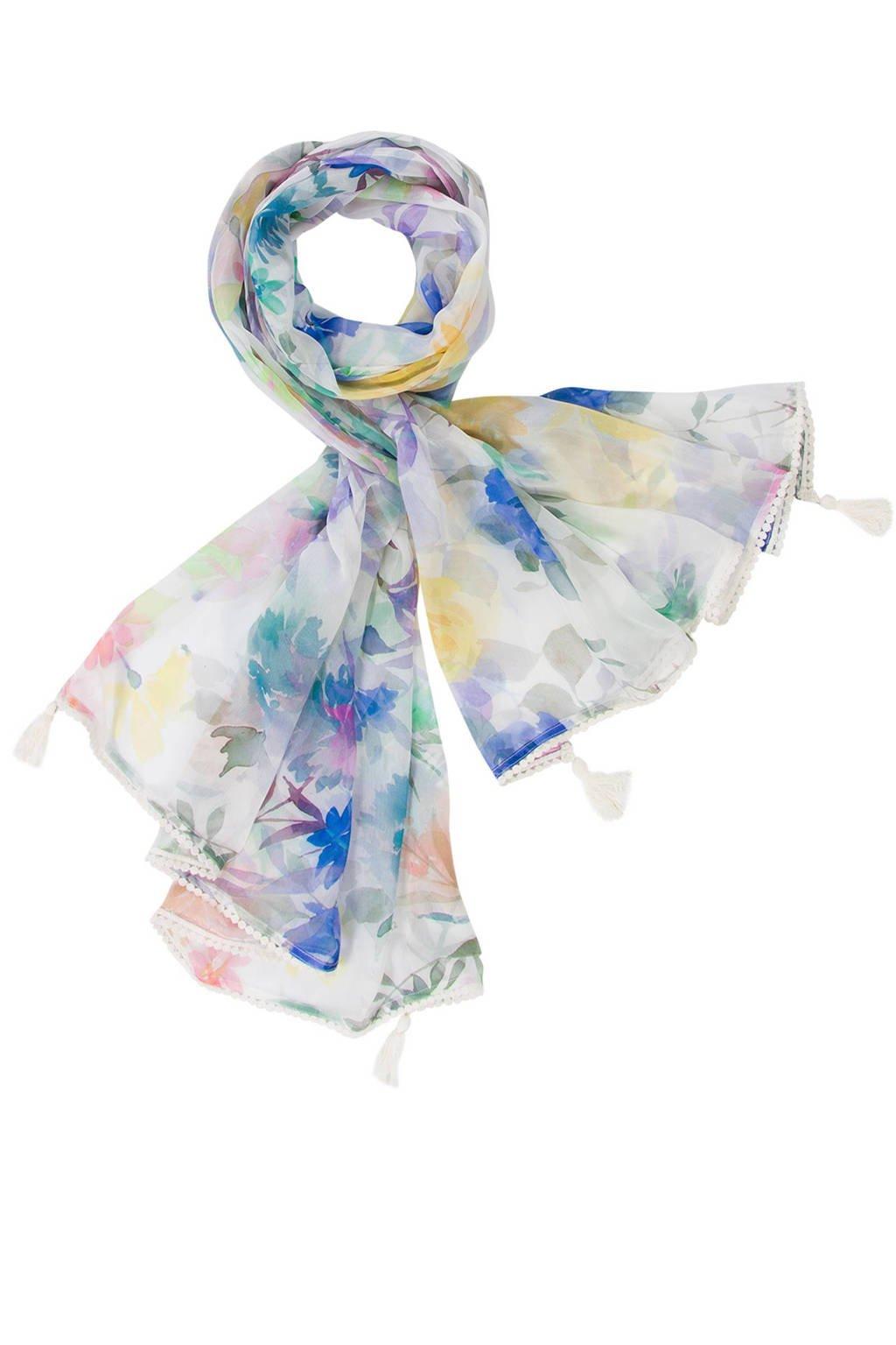 Miss Etam sjaal, Ecru/paars