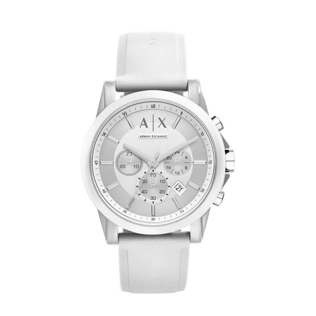 Armani Exchange horloge, Wit