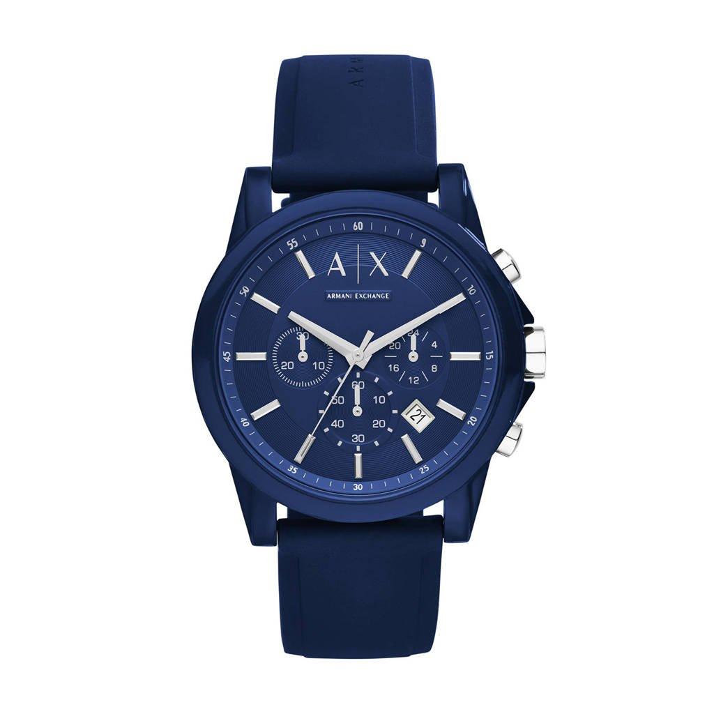 Armani Exchange horloge Outerbanks AX1327 blauw, Blauw