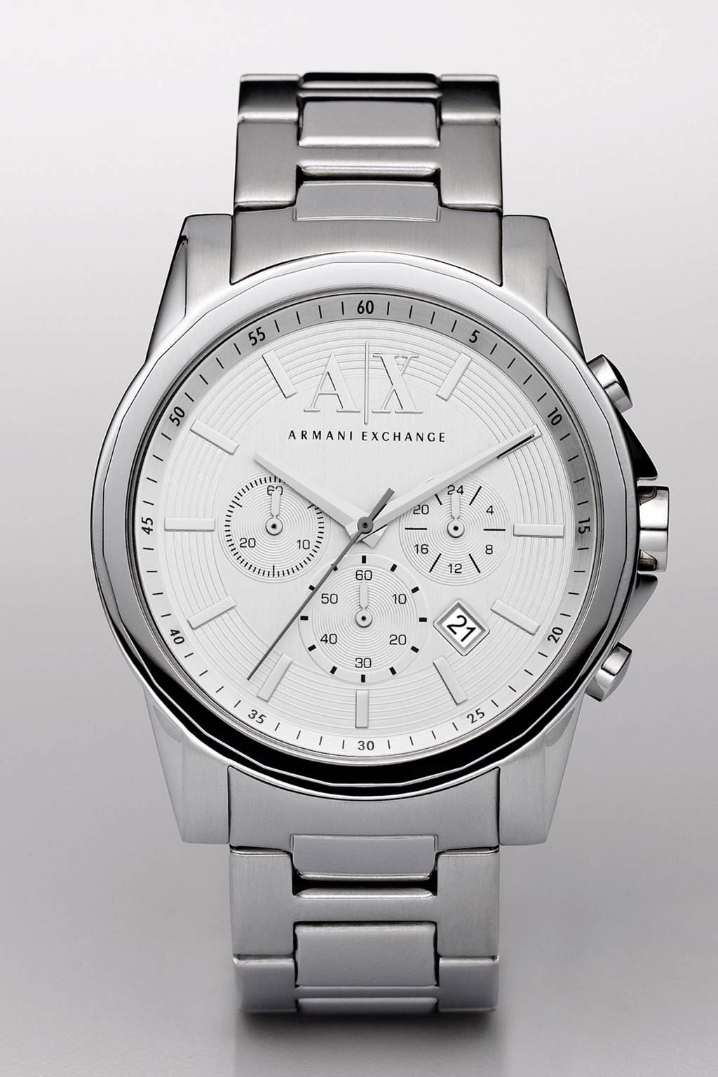 Armani Exchange horloge, Zilver