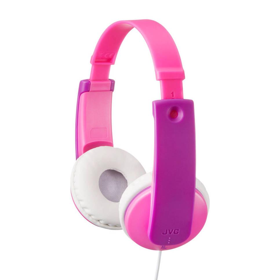 JVC HA-KD7 kids on-ear koptelefoon roze, Roze