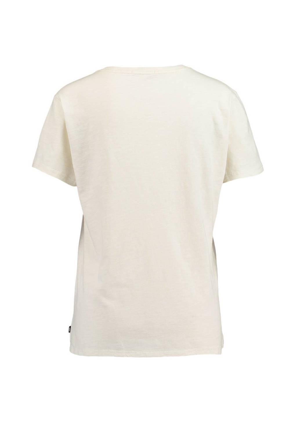 America Today T-shirt, Ecru/blauw