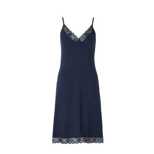 whkmp's own slipdress met kant donkerblauw