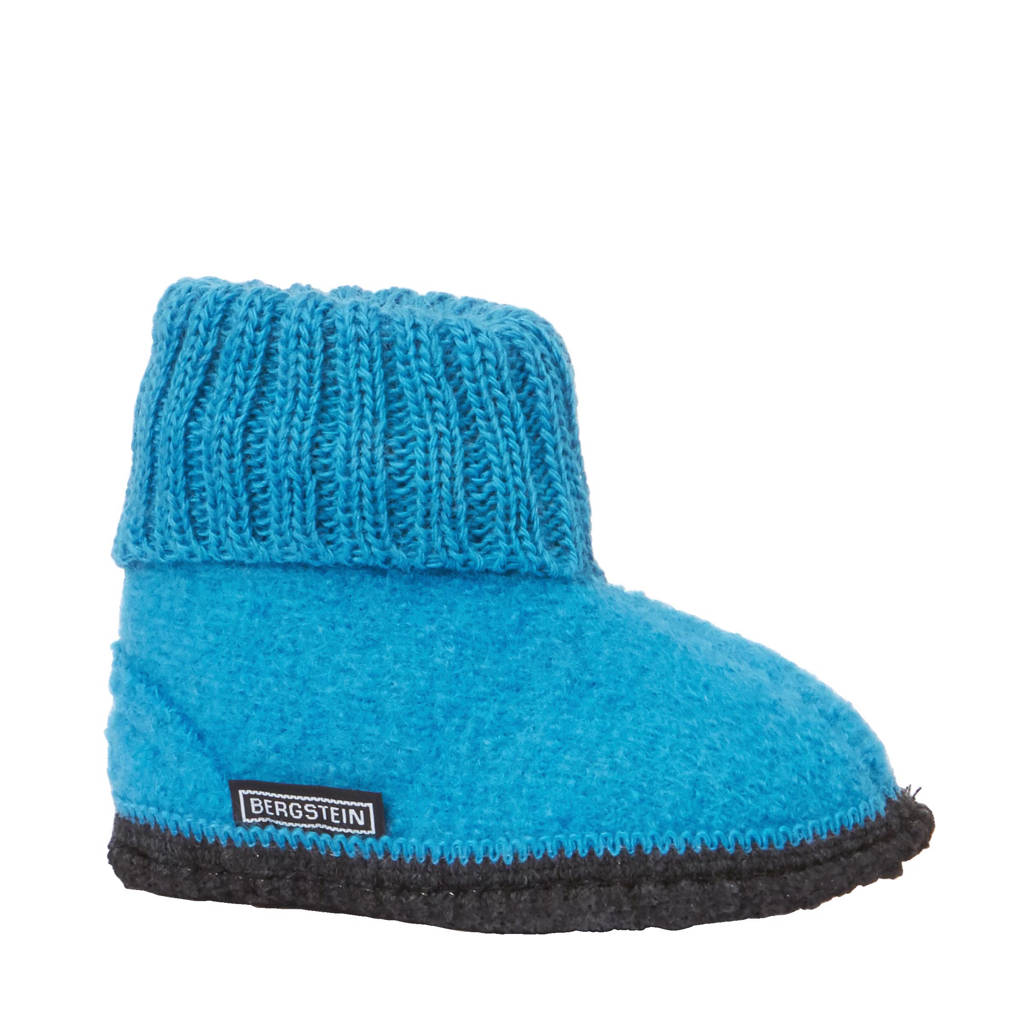 Bergstein Cozy pantoffel kids, Turquoise