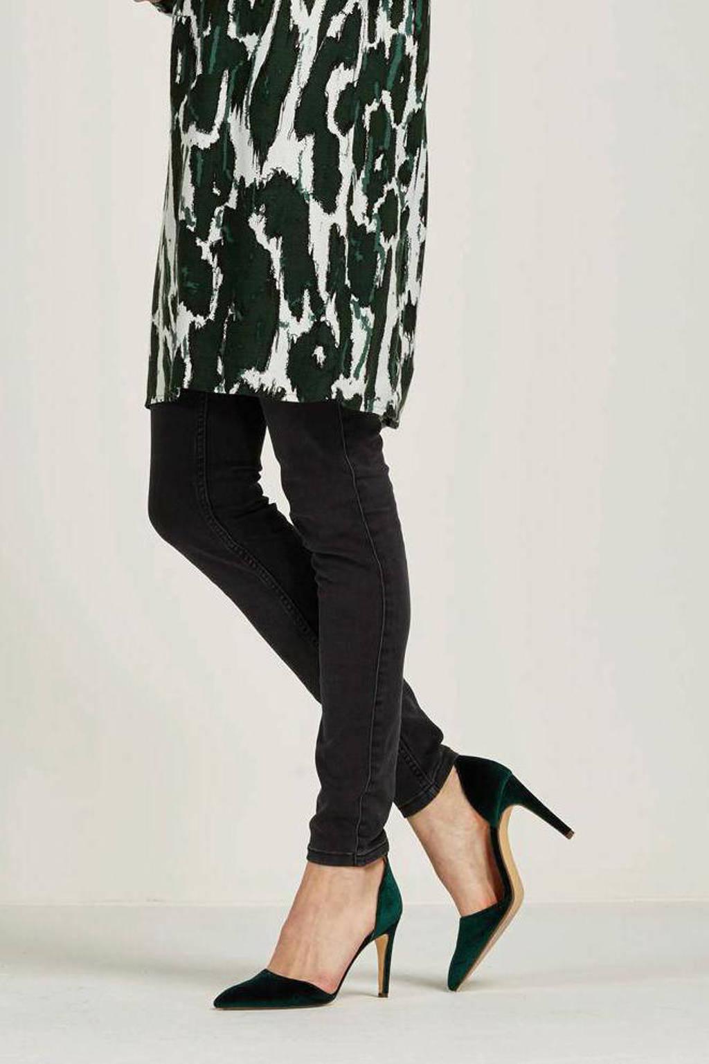 VERO MODA mid waist shape-up slim fit jeans VMSEVEN dark grey denim, Donkergrijs