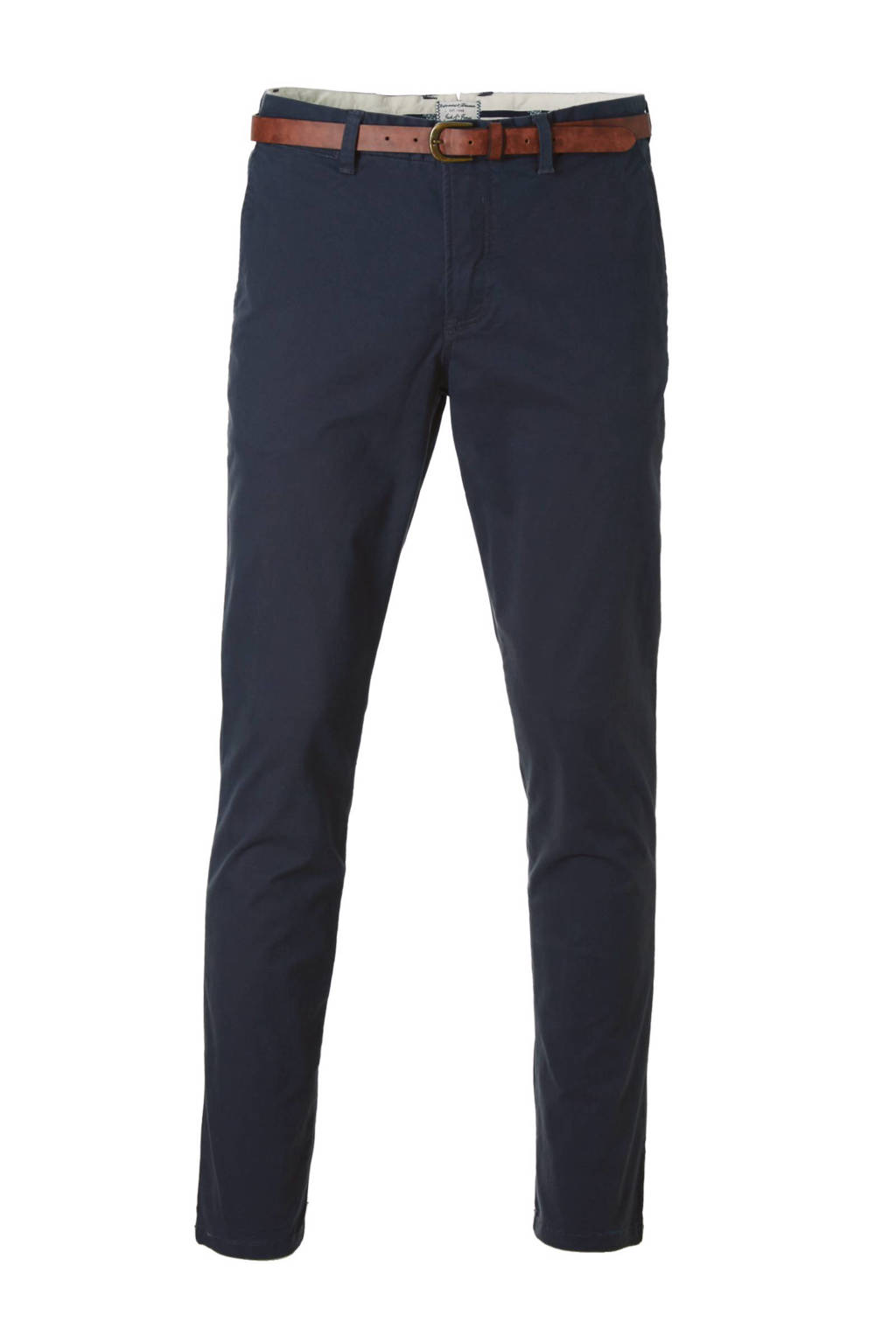 JACK & JONES JEANS INTELLIGENCE Cody Spencer regular fit chino, Donkerblauw
