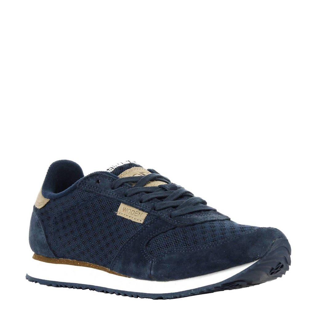 Woden  Ydun sneakers met suède, Blauw