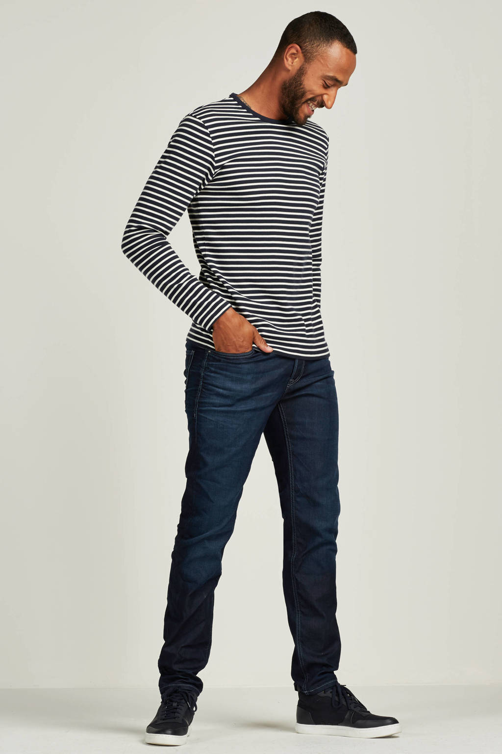 JACK & JONES JEANS INTELLIGENCE regular fit jeans Mike blue denim, Blue denim