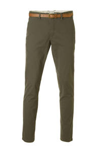 JACK & JONES JEANS INTELLIGENCE Cody Spencer regular fit chino, Olijfgroen
