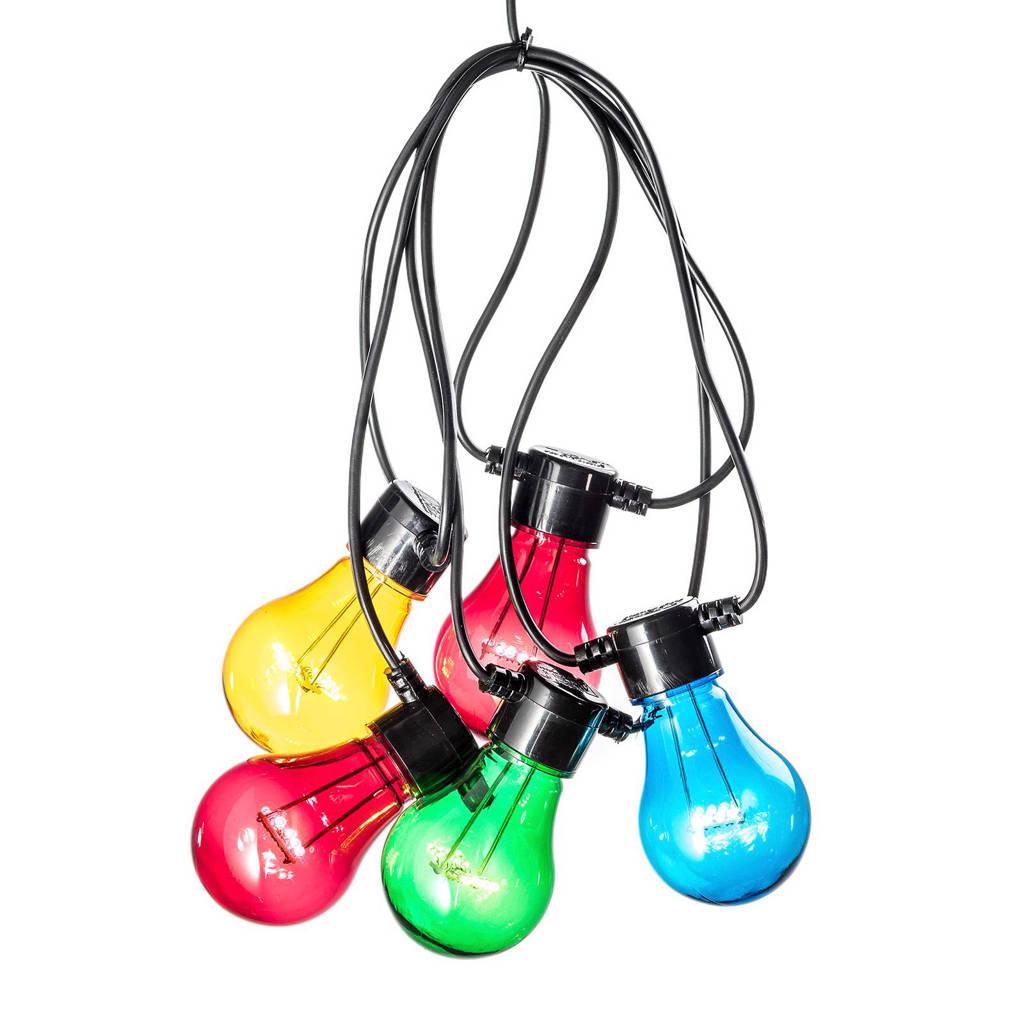 Konstsmide lichtsnoer (5 lampen, met timer), 40, Multicolor