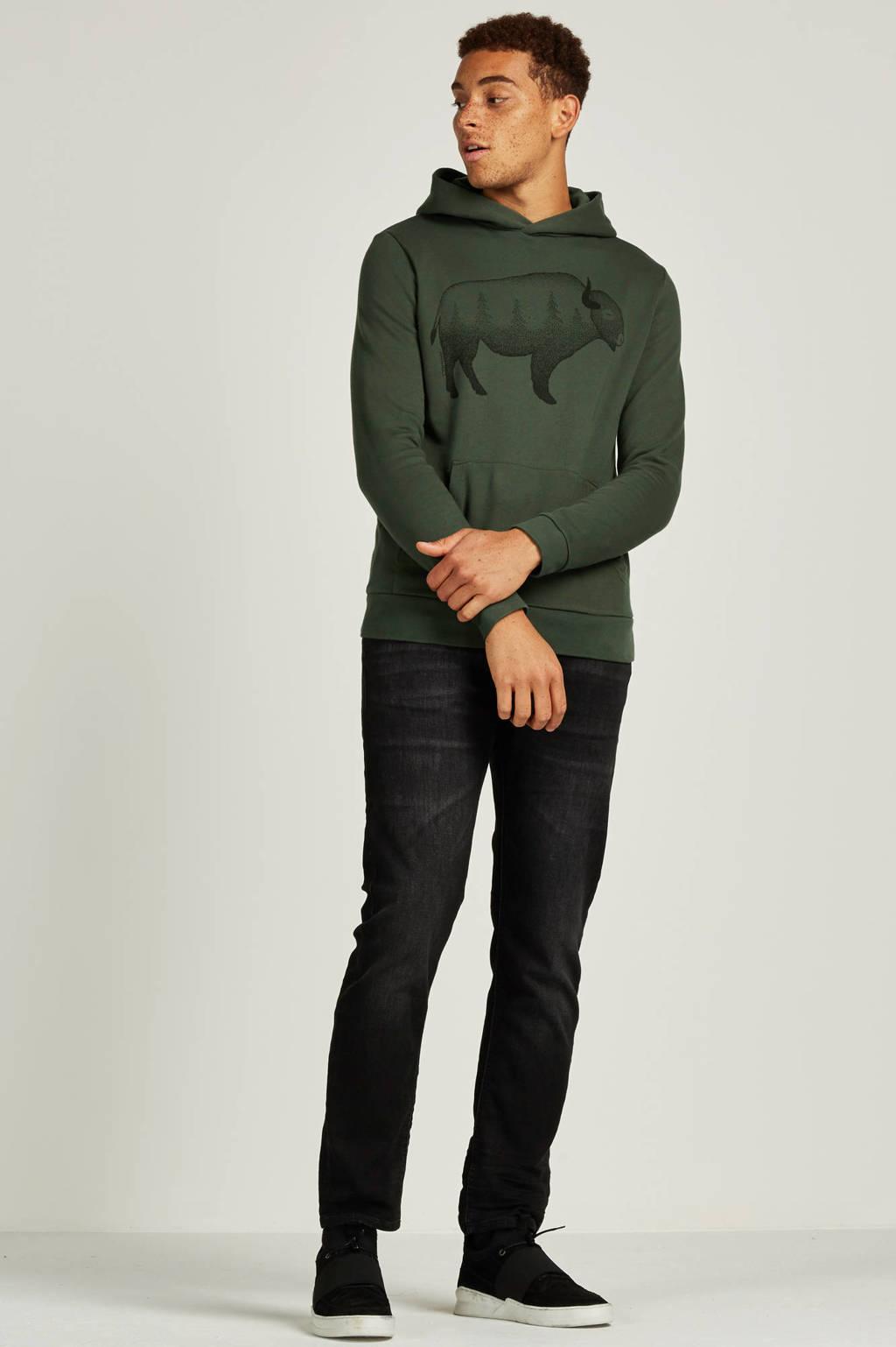 Jack & Jones Intelligence  regular Mike comfort fit jeans, Black denim