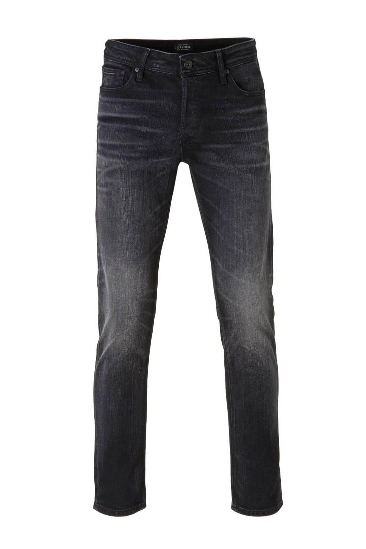 J&J Intelligence Tim slim fit jeans, Black denim