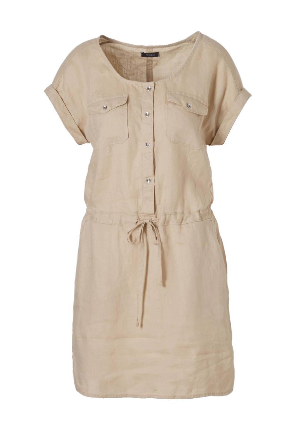 C&A Yessica linnen jurk, Beige