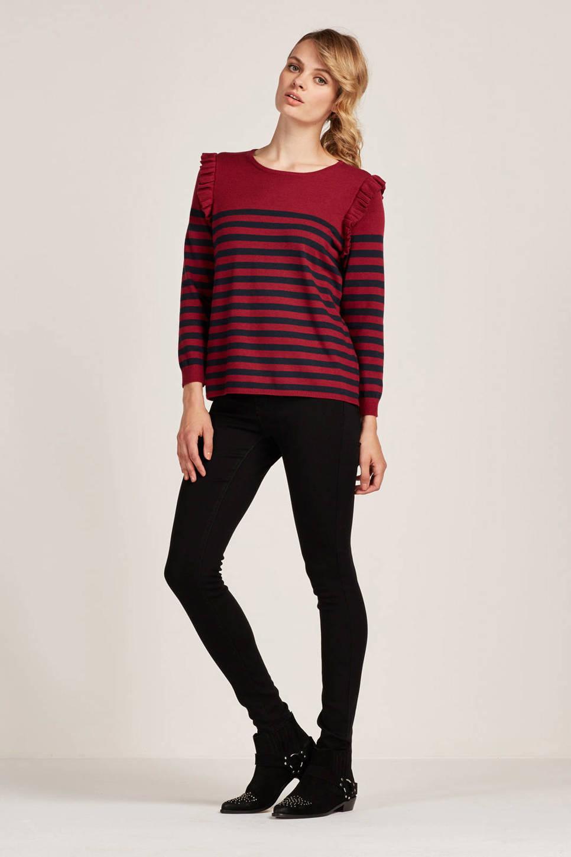 ONLY trui, Rood/zwart