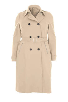 Plus trenchcoat met ceintuur