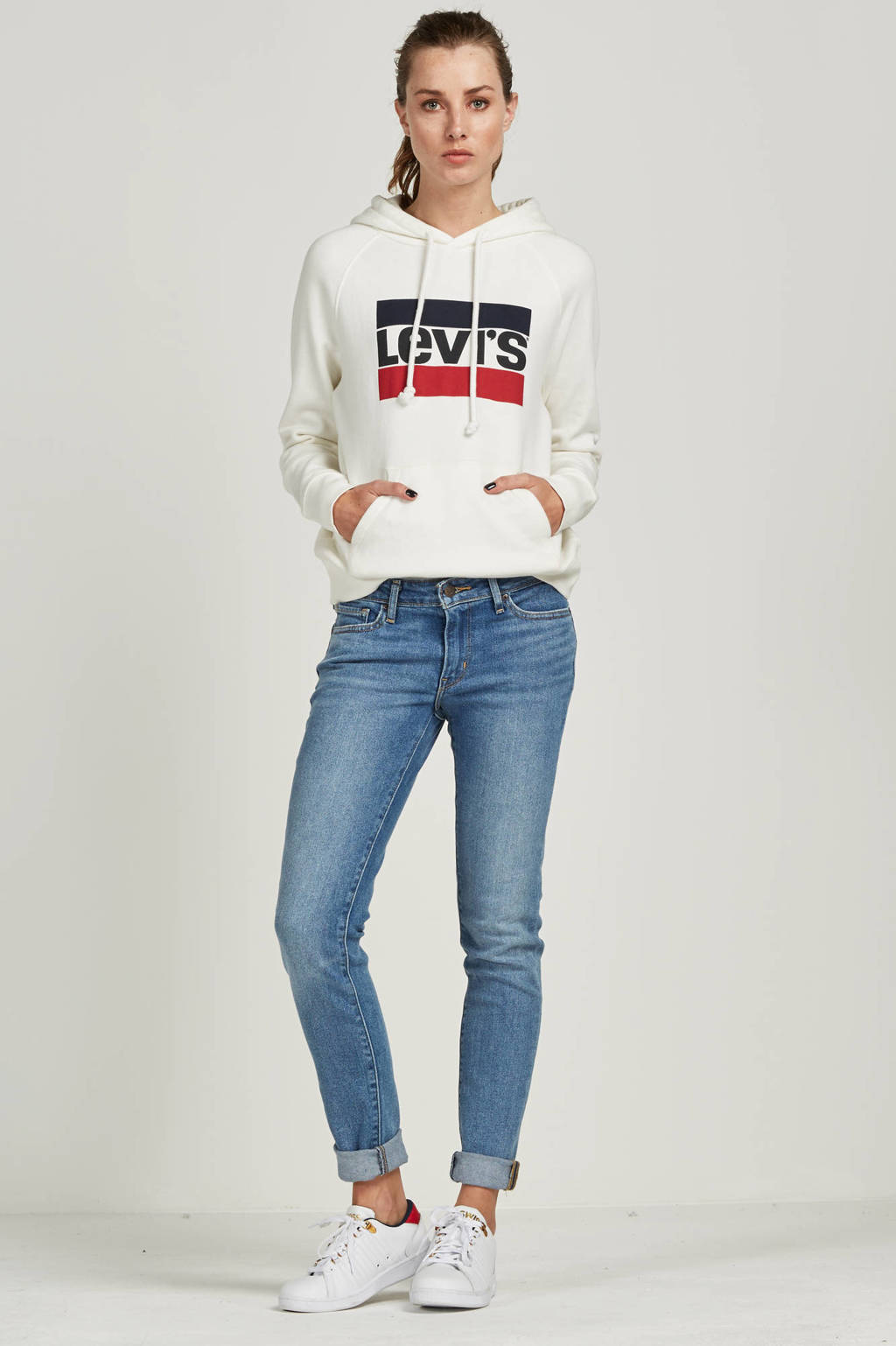 Levi's Graphic sport sweater, Marshmallow