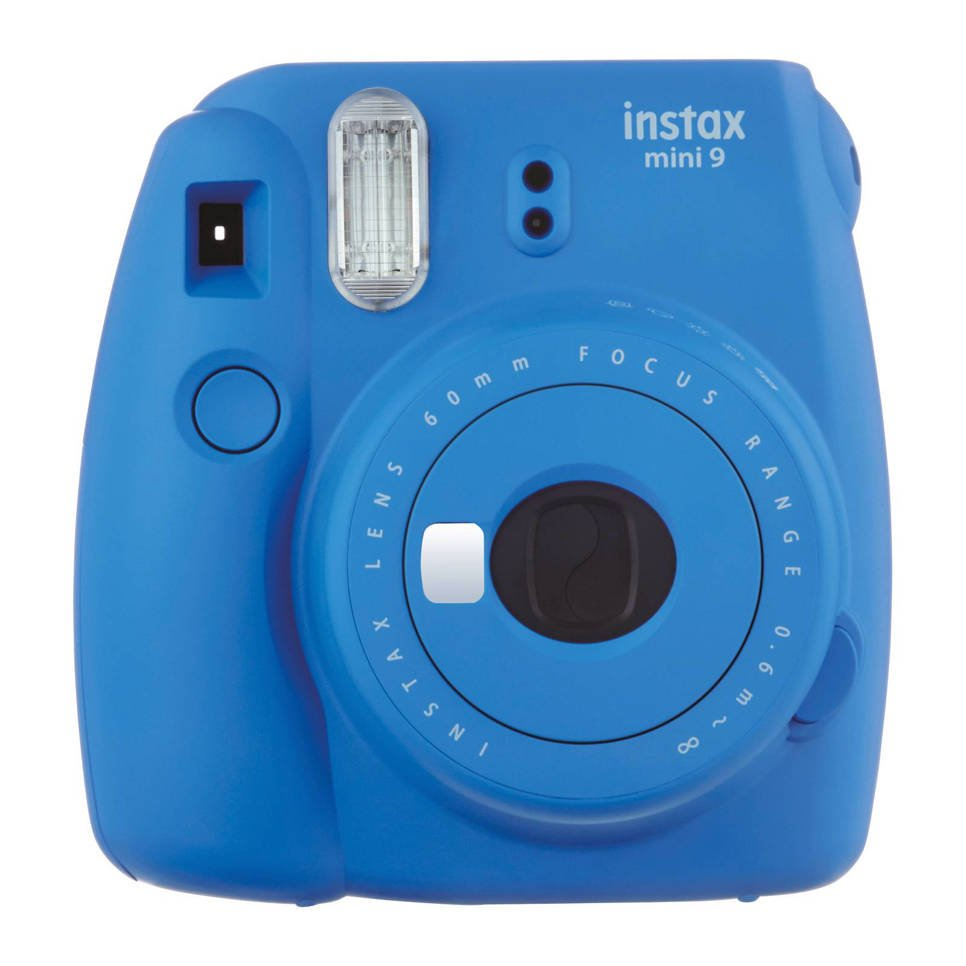 Fujifilm Instax Mini 9 analoge camera, Cobalt blue