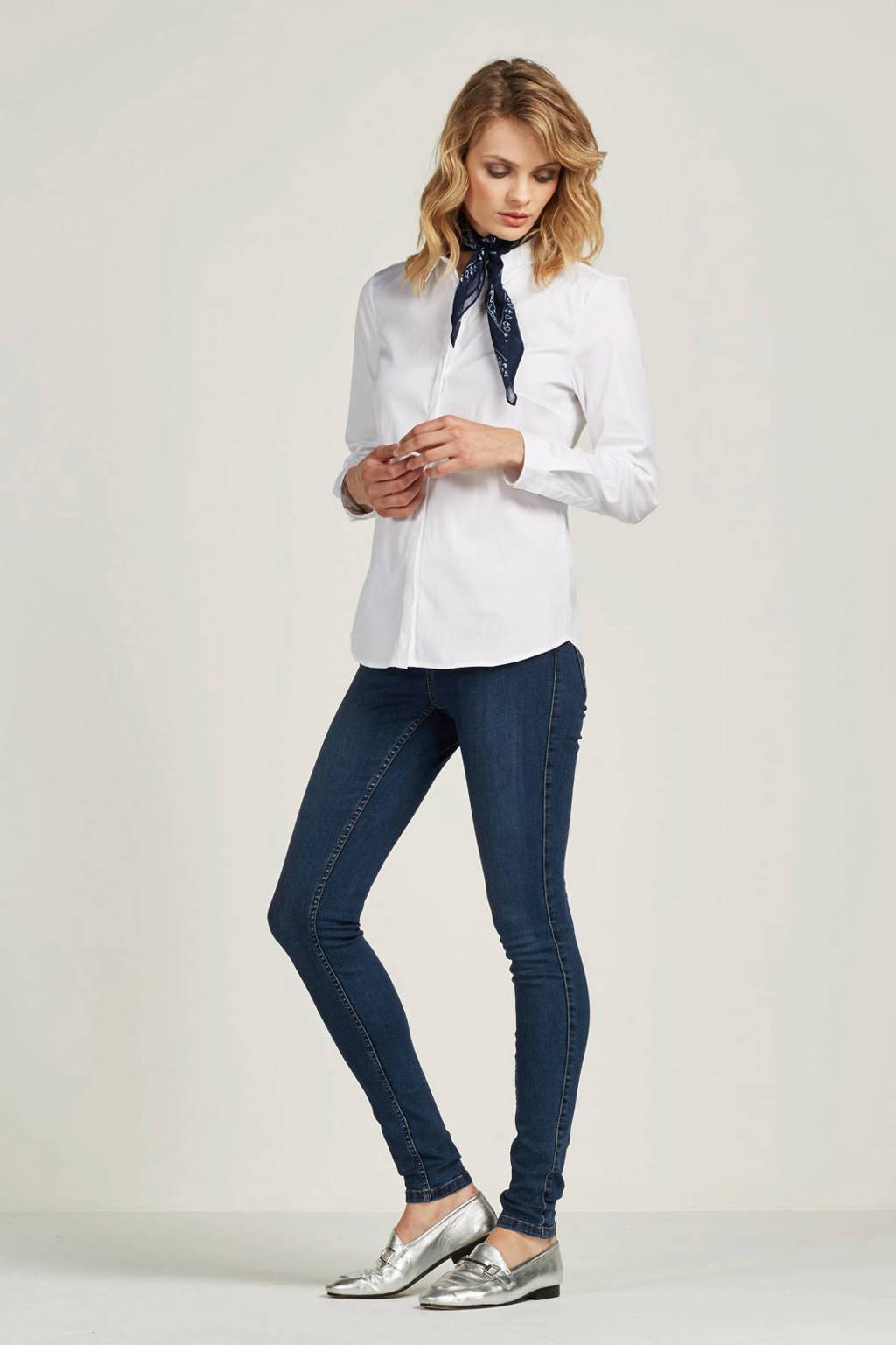 ESPRIT Women Collection getailleerde overhemdblouse, Wit