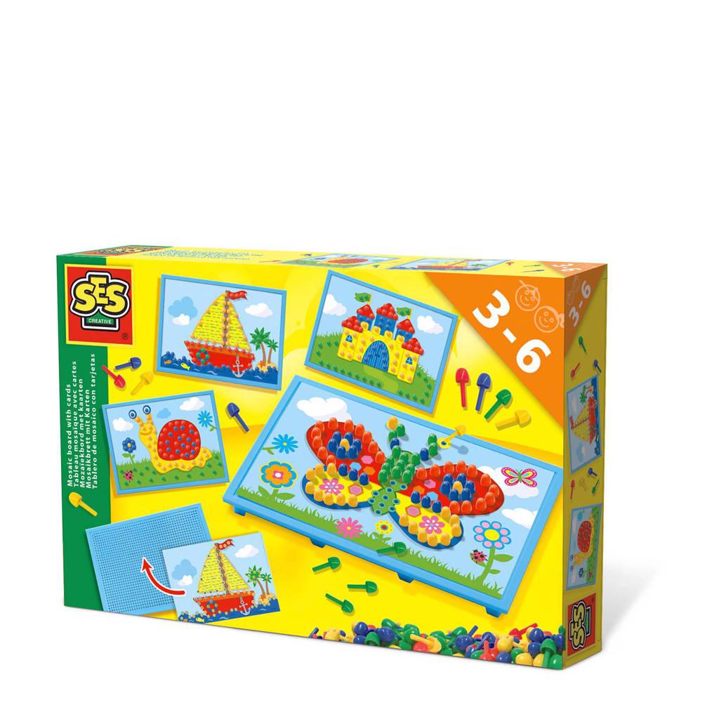 SES  mozaiekbord met kaarten
