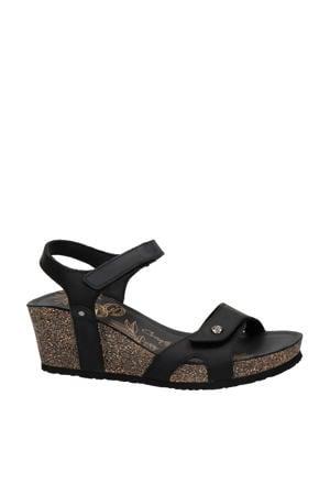 Julia  nubuck sandalettes zwart
