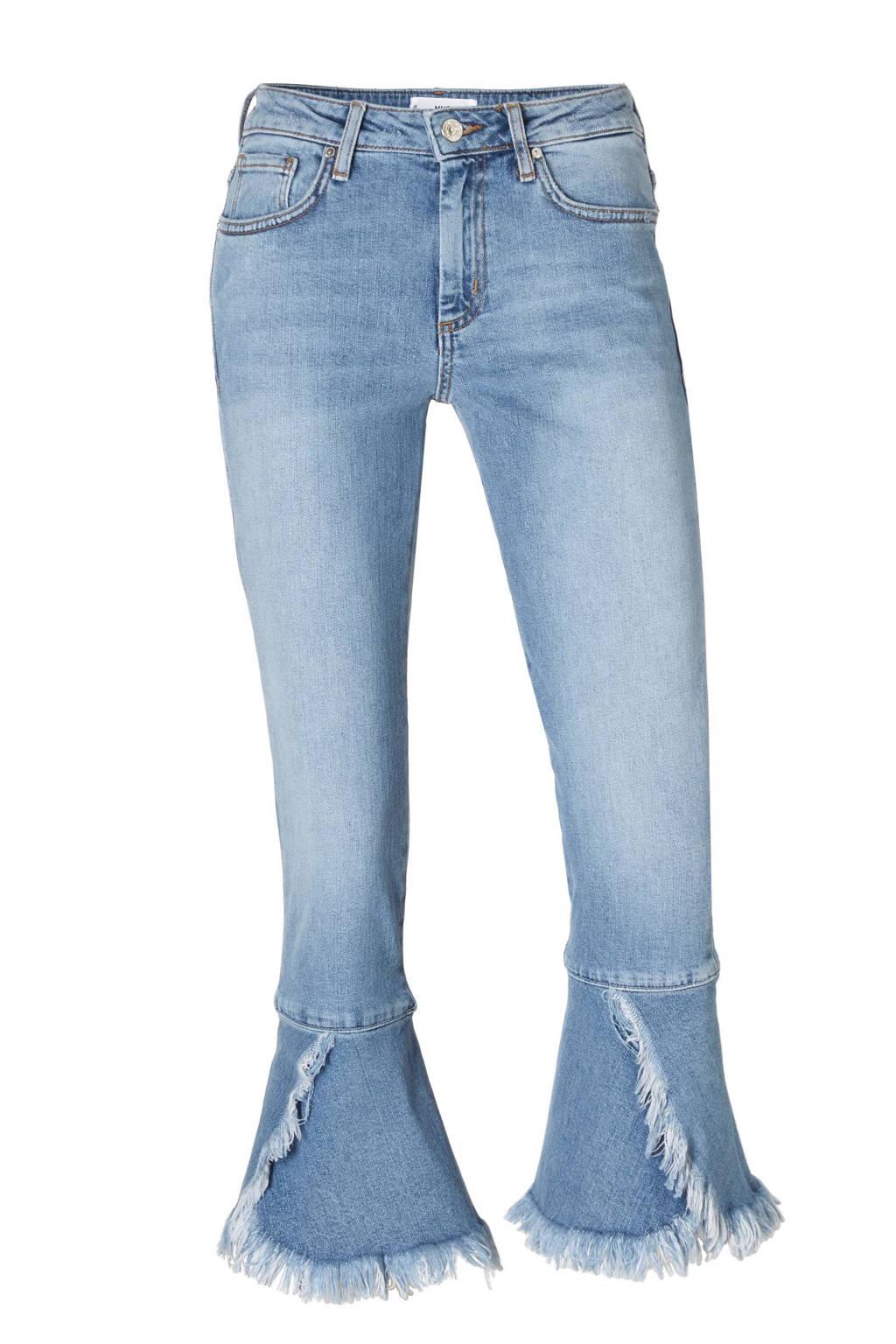 Mango cropped jeans, Lichtblauw