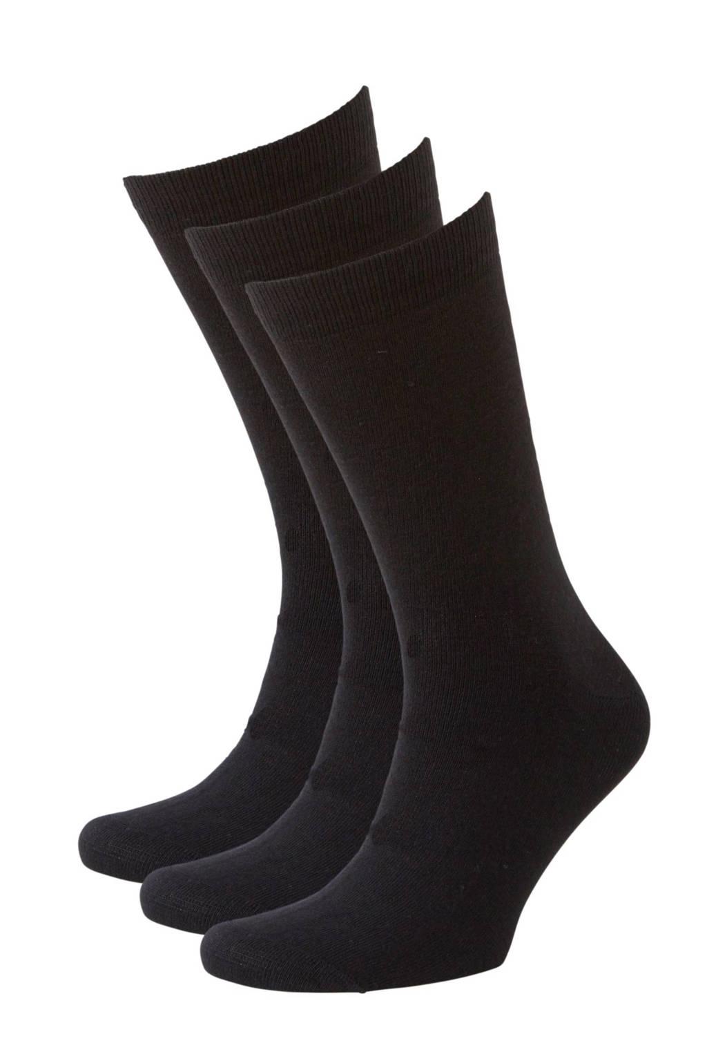 whkmp's own sokken wol (3 paar), Zwart