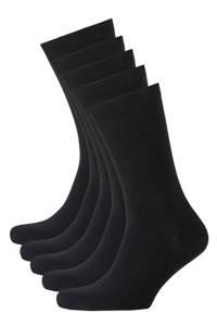 whkmp's own sokken biologisch katoen (5 paar), Zwart