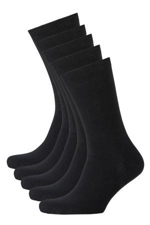 sokken biologisch katoen - set van 5 zwart