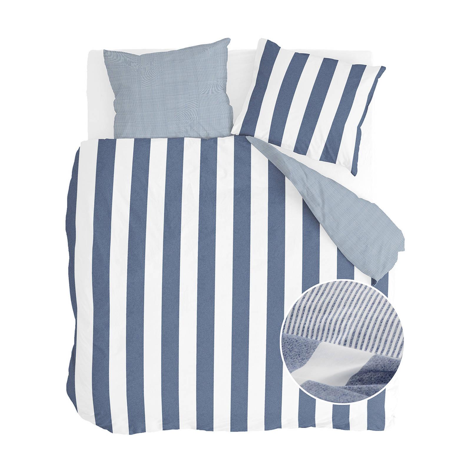 walra katoenen dekbedovertrek lits jumeaux blauw
