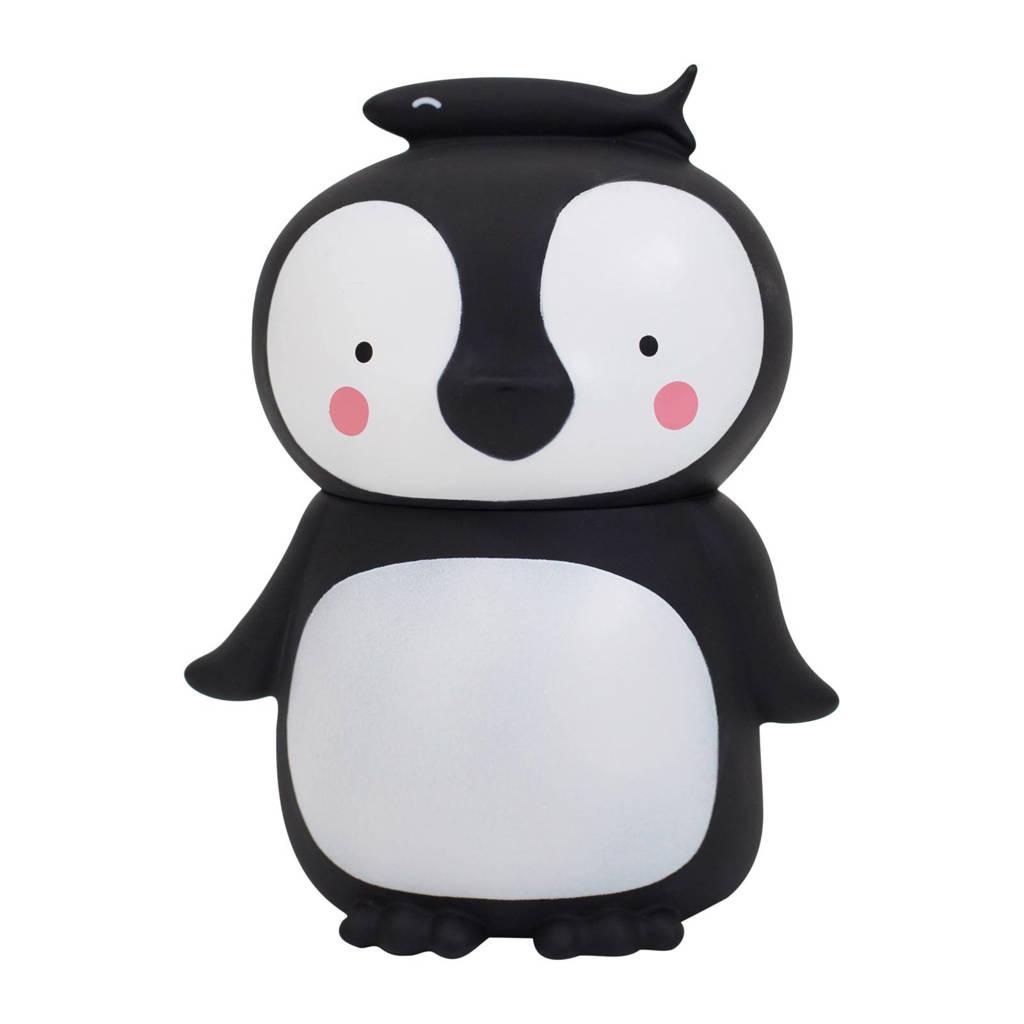 A Little Lovely Company spaarpot Pinguïn, Zwart, wit