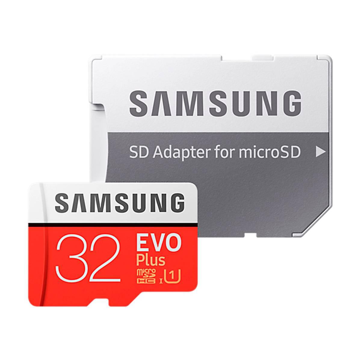 Samsung MicroSDHC EVO+ Class 10 32GB geheugenkaart + adapter