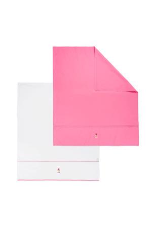 ledikantlaken 100x150 cm wit/roze (2 stuks)