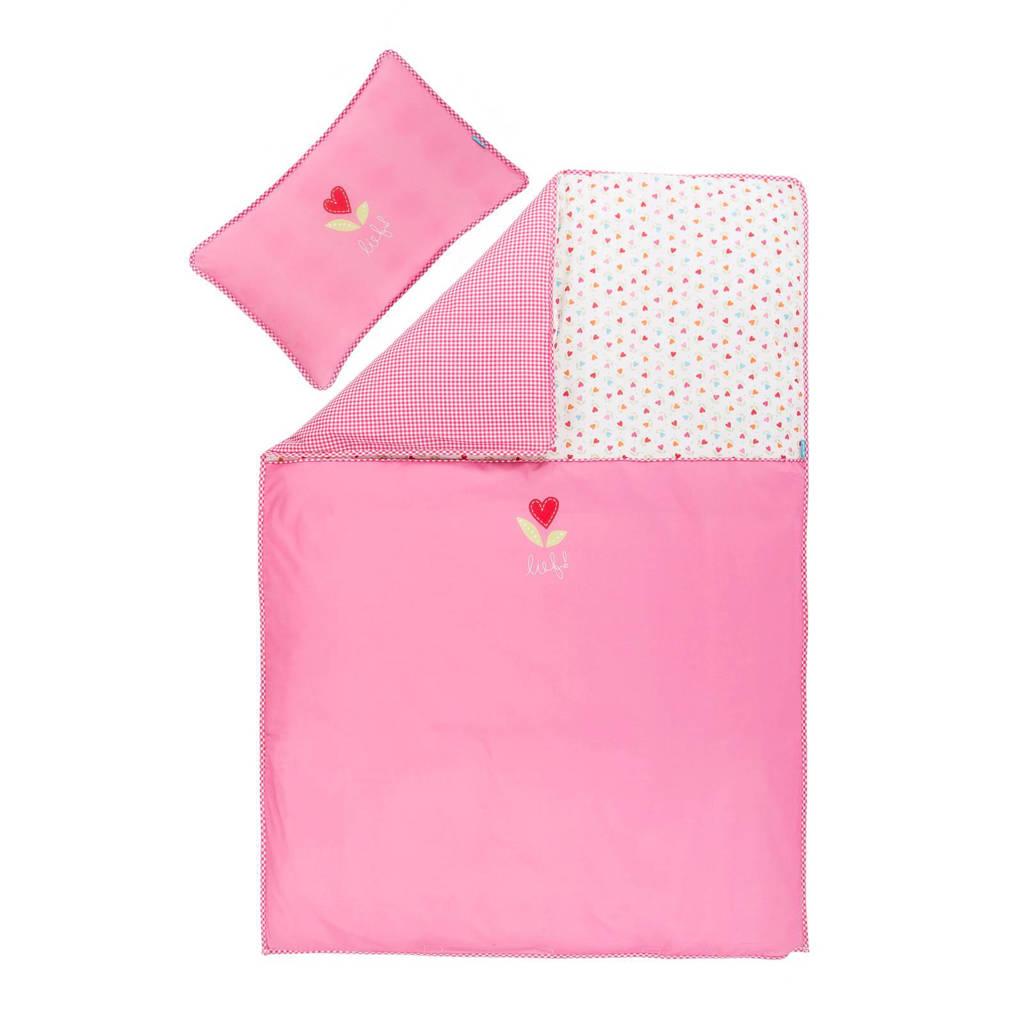 lief! dekbedovertrek 80x80 cm roze, Roze