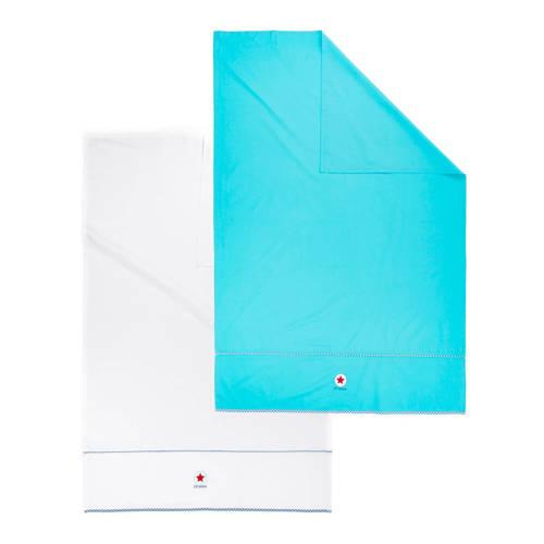 lief! wieglaken 80x100 cm blauw/wit (2 stuks) kopen