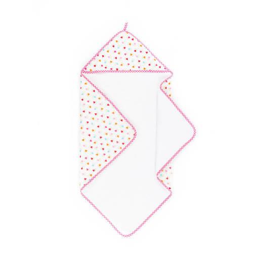 lief! badcape 75x75 cm wit/roze kopen