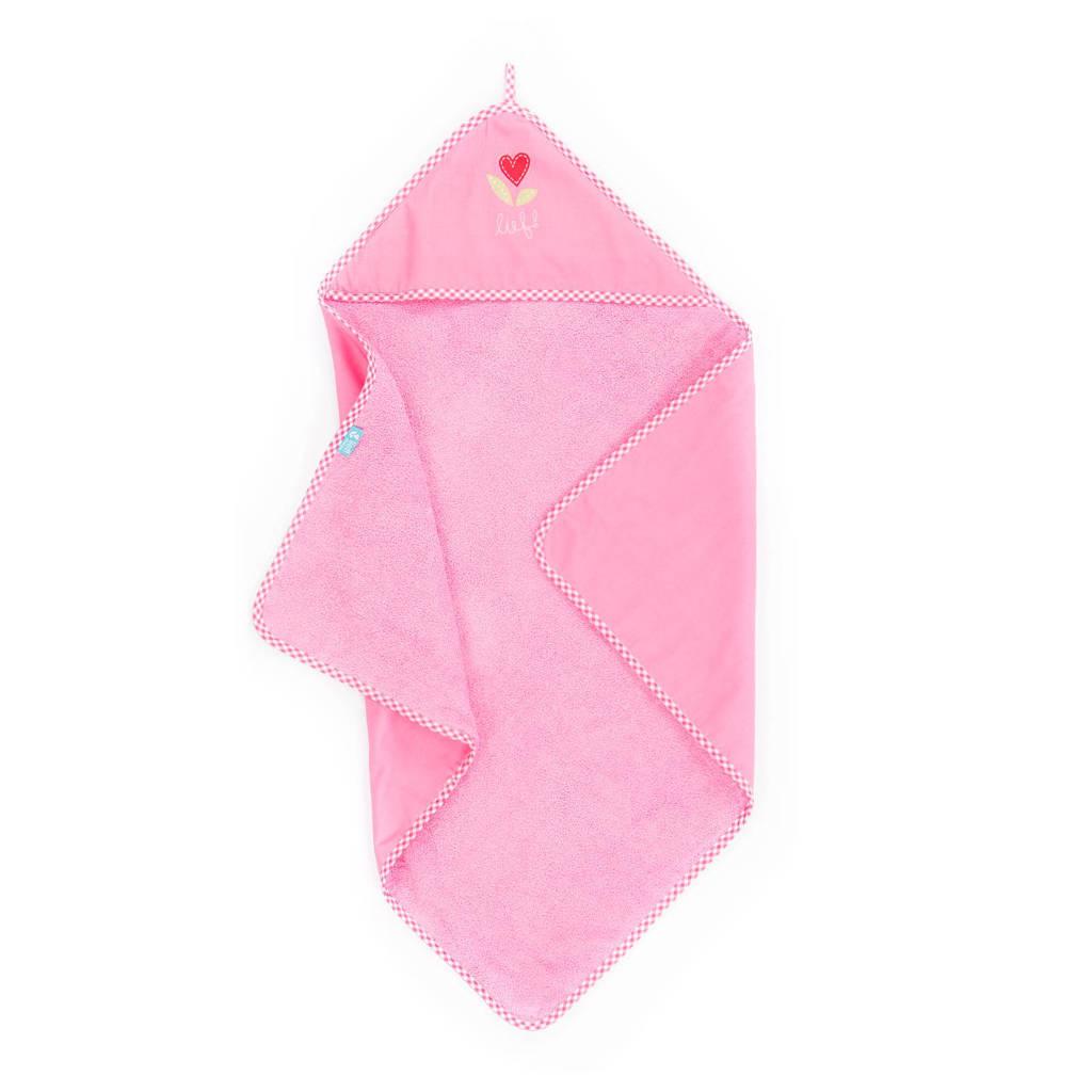 lief! badcape 75x75 cm roze, Roze