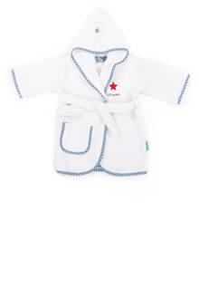 badjas 1-2 jaar wit/blauw