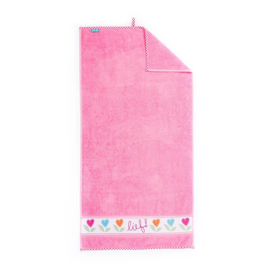 lief! badlaken 70x130 cm roze, Roze