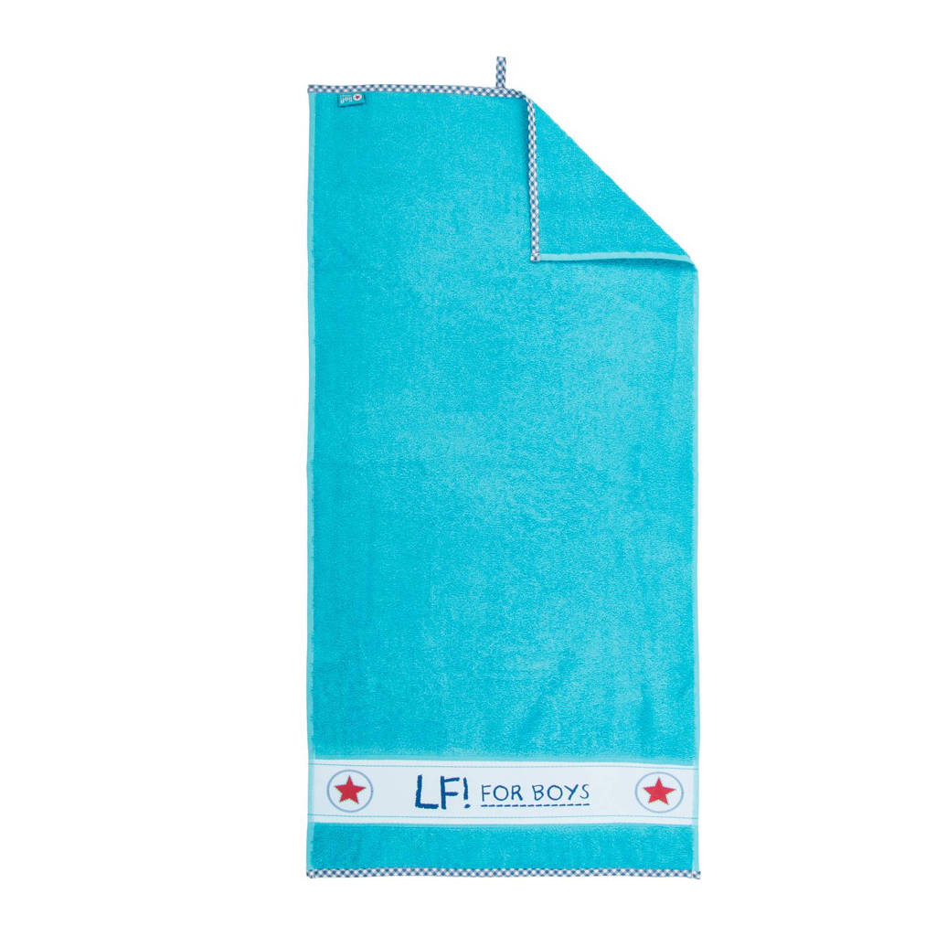 lief! badlaken 70x130 cm turquoise, Turquoise