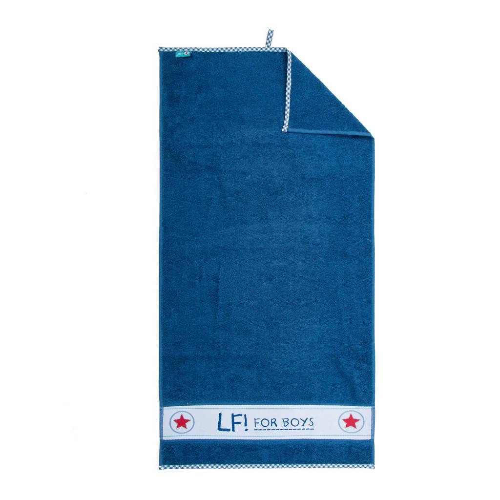 lief! badhanddoek 50x90 cm blauw, Blauw
