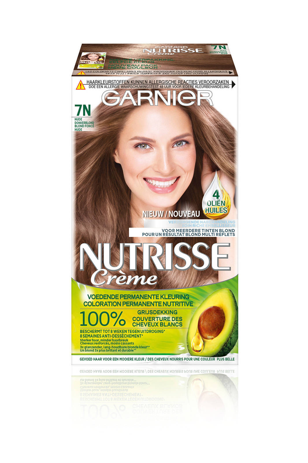 Garnier Nutrisse Crème Nude Haarkleuring 7n Donker Blond Wehkamp